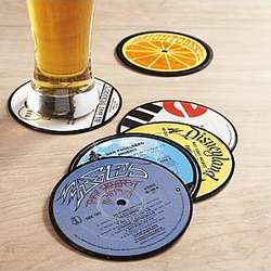 Recycled LP Coasters