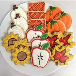 Festive Fall Harvest Sugar Cookie Gift Tin