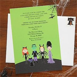 Costume Party Halloween Invitations