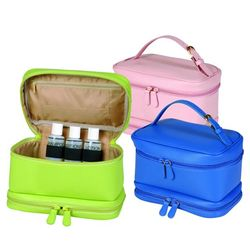 Ladies Leather Cosmetic Travel Case