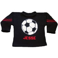 Personalized Child's Knit Soccer Sweater