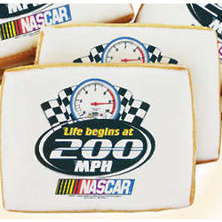 Nascar Life Begins at 200 MPH Cookies