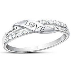 Personalized 7-Diamond Love Ring