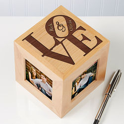 Personalized Wooden Photo Cube