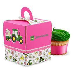 John Deere Pink Cupcake Box