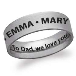 Stainless Steel Flat Engraved Names and Message Band