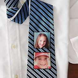 Personalized Two Pictures Photo Tie