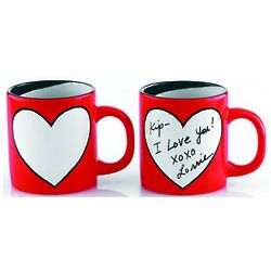 Write Your Own Message Heart Mug