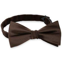 Solid Satin Woven Silk Pre-Tied Bow Tie