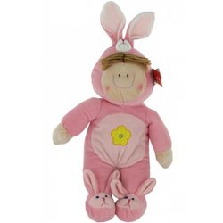 Plush Springtime Kids Stuffed Doll in Bunny Outfit