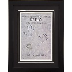 Personalized Lucky As Can Be Framed Handprints