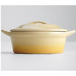 Personalized Block Font Yellow Ombre Mini Casserole Dish