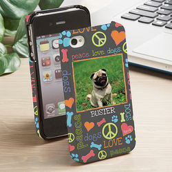 Peace Love Dogs iPhone 4 Hardcover Cell Case