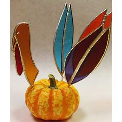 Stained Glass Turkey Decoration