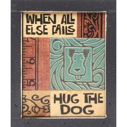 Hug the Dog Mosaic Plaque