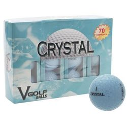 Personalized Crystal Blue Golf Balls