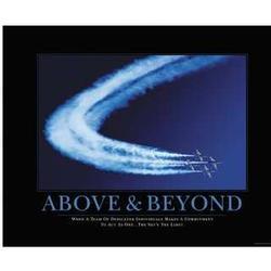Above & Beyond Framed Motivational Poster