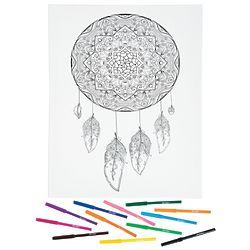Canvas Dreamcatcher Coloring Art Kit