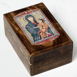 Mary Mother of the Church Rosary Keepsake Box