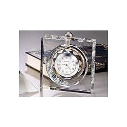 Ambassador Crystal Desk Clock