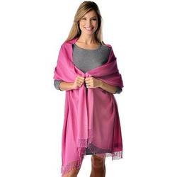 Magenta Pink Beaded Pashmina Shawl