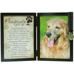 Pawprints Memorial Pet Tag Frame