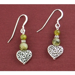 Connemara Heart Scroll Earrings