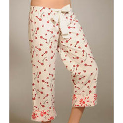 Juicy Couture Key to My Heart Printed Poplin PJ Pant