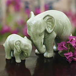 Celadon Elephant Set