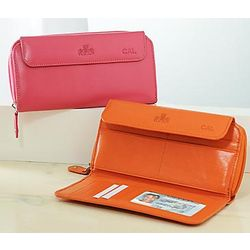 Personalized Leather Clutch Wallet