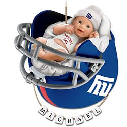 """""""Giants Fan"""" Baby's First Christmas Ornament"""