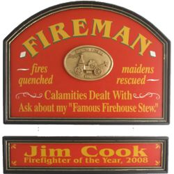 Fireman's Personalized Pub Sign