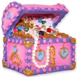 Princess Treasure Chest Aquarium Ornament