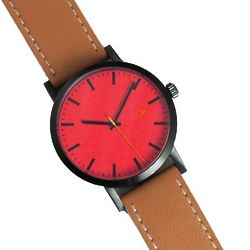 Electric Rose & Tan Colorful Design Watch