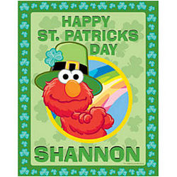 Personalized Leprechaun or Easter Bunny Elmo Puzzle