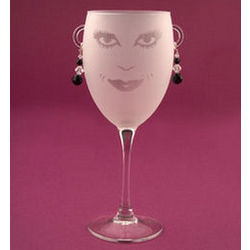 Black Lola Wine Glasses