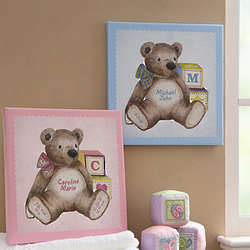 Baby Bear Personalized Canvas Art