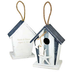 Personalized Nautical Theme Wood Bird House