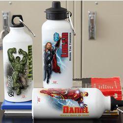Personalized Avengers Water Bottle