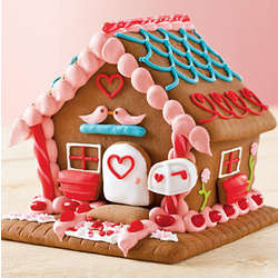 Valentine's Day Gingerbread Luv Shack