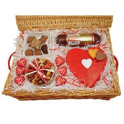 Valentine Gourmet Delight Gift Basket