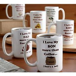 Personalized Love You More Than Mug