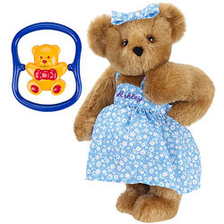 Pregnancy Mama Teddy Bear with Baby Bear Rattle