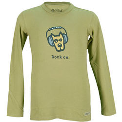 Boy's Rock On Long Sleeve Crusher T-Shirt