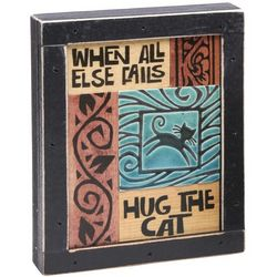 Hug the Cat Mosaic Plaque