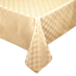 Gold 60x120 Vinyl Tablecloth