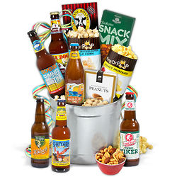 Summer Seasonal Beer Bucket Gift Basket
