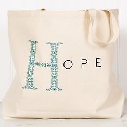 Floral Hope Personalized Canvas Tote
