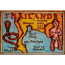 Thailand Map Leather Photo Album in Color