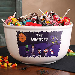 Personalized Halloween Character Collection Candy Bowl